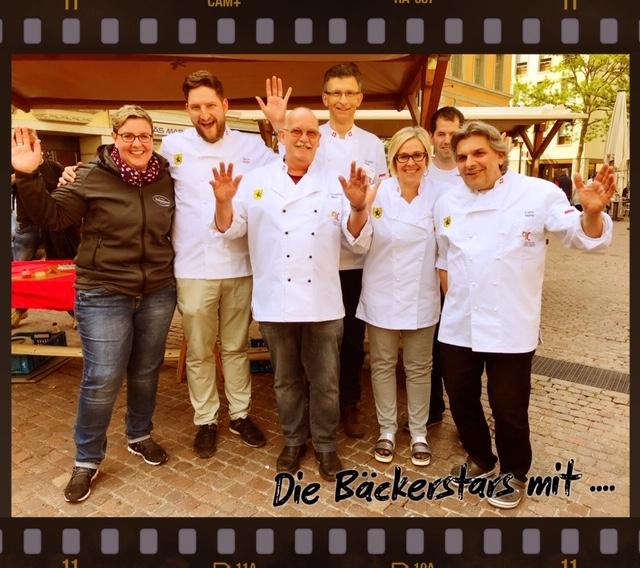 Heute am jährlichen Brotmarkt auf dem Fronwagplatz in Schaffhausen.